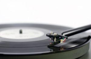 Tonearm on Record Player