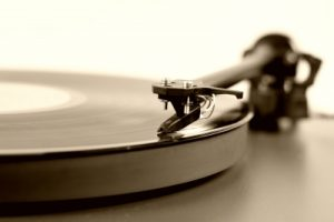 Turntable Spinning a Record