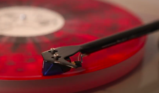 Ortofon 2M Blue and a vinyl record from Vinyl Me, Please