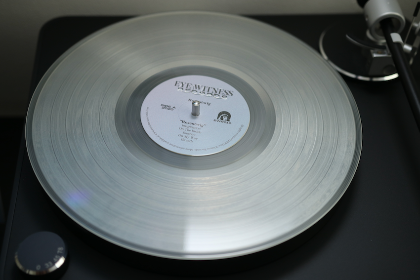 Clear vinyl for the Rosentwig chillwave album.
