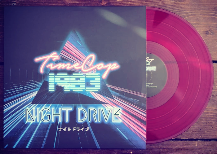 TimeCop1983 on vinyl with Night Drive synthwave album