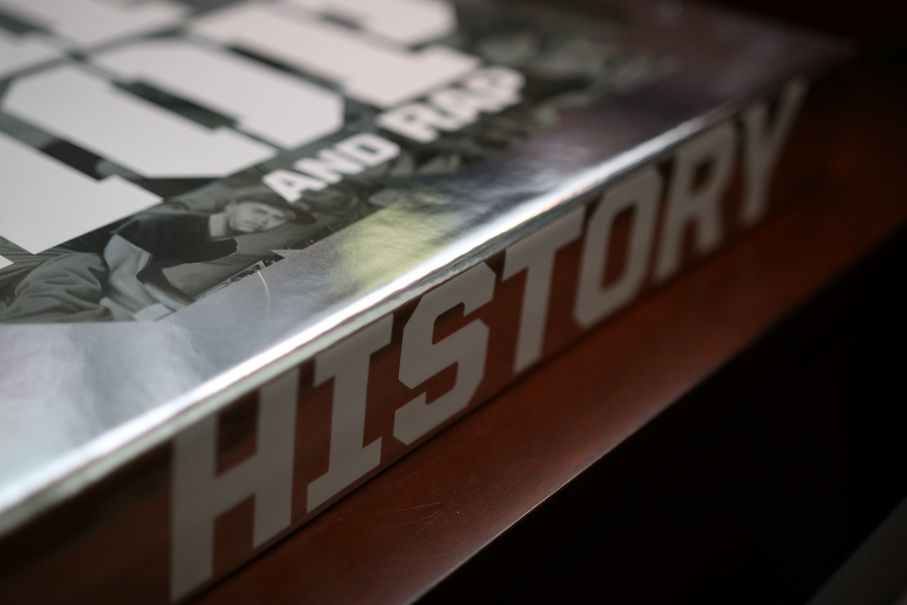 Smithsonian Anthology to Hip Hop and Rap book close-up