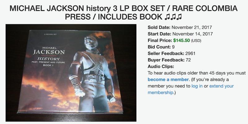 Michael Jackson on Vinyl